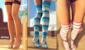 Schoolgirl coloridos calcetines sexy