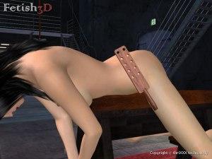 Slave spank trasero